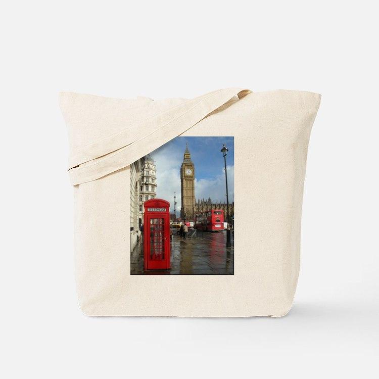 London phone box Tote Bag