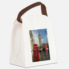 London phone box Canvas Lunch Bag