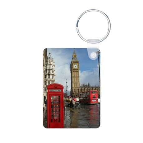 London phone box Keychains