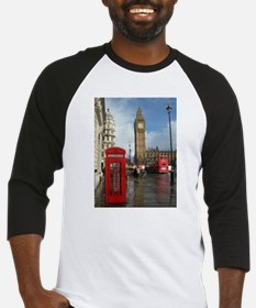 London phone box Baseball Jersey