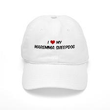 I Love: Maremma Sheepdog Baseball Cap