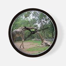 Giraffe's love Wall Clock