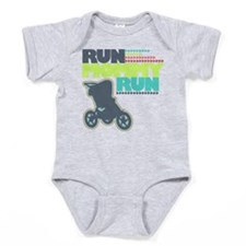 Run Mommy Run - Stroller Baby Bodysuit