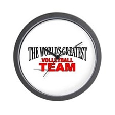 """""""The World's Greatest Volleyball Team"""" Wall Clock"""