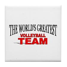 """The World's Greatest Volleyball Team"" Tile Coaste"
