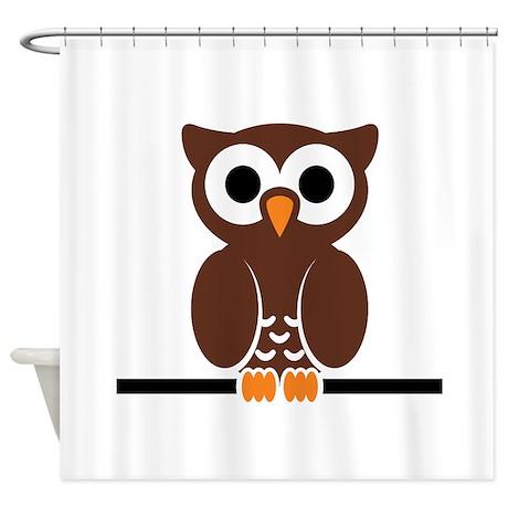 Cartoon Owl Shower Curtain By AnimalsandWildlifeGifts