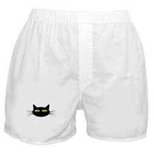 Black Cat Face Boxer Shorts