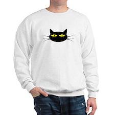 Black Cat Face Jumper