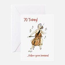 70 today Greeting Card - follow your dreams
