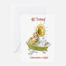 40 today Greeting Card - birthday bubbles