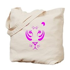 Pink Tiger Face Tote Bag