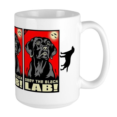 Obey the Black Lab! 06 Large Mug