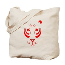 Red Tiger Face Tote Bag