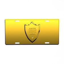 Amor Vincit Omnia Aluminum License Plate