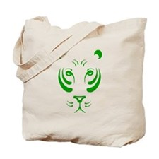 Green Tiger Face Tote Bag