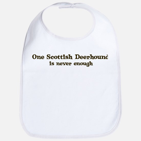 One Scottish Deerhound Bib