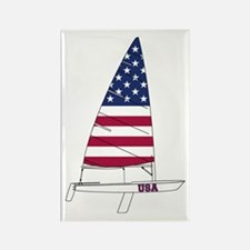 American Dinghy Sailing Rectangle Magnet