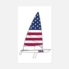 American Dinghy Sailing Decal