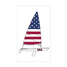 American Dinghy Sailing Stickers