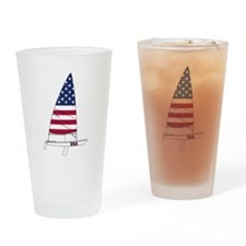 American Dinghy Sailing Drinking Glass