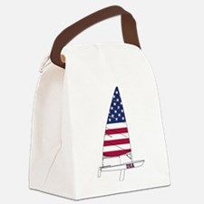 American Dinghy Sailing Canvas Lunch Bag