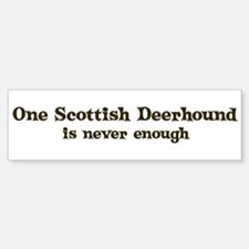 One Scottish Deerhound Bumper Bumper Bumper Sticker