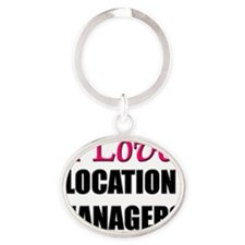 LOCATION-MANAGERS56 Oval Keychain
