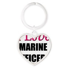 MARINE-OFFICERS133 Heart Keychain