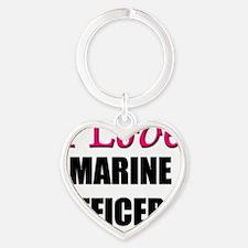 MARINE-OFFICERS133 Heart Keychain