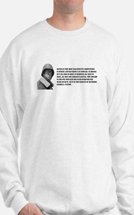 Patton Quote - Battle Sweatshirt