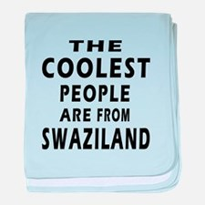 The Coolest Swaziland Designs baby blanket