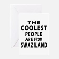 The Coolest Swaziland Designs Greeting Card