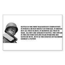 Patton Quote - Battle Rectangle Decal