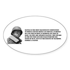 Patton Quote - Battle Oval Decal