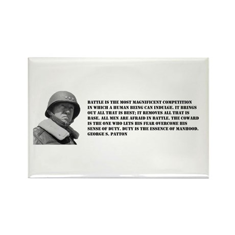Patton Quote - Battle Rectangle Magnet (100 pack)