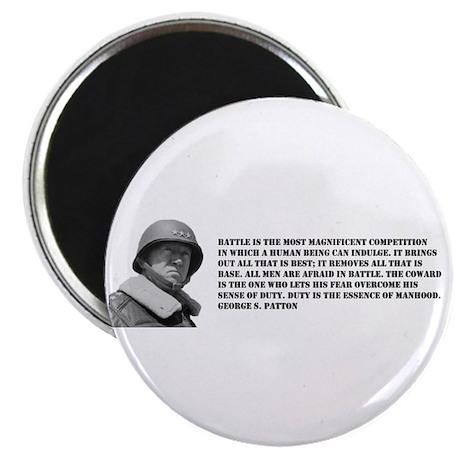 "Patton Quote - Battle 2.25"" Magnet (100 pack)"
