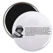 Patton Quote - Battle Magnet