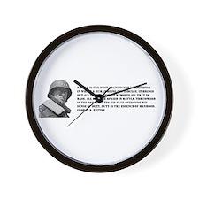 Patton Quote - Battle Wall Clock