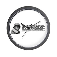 Patton Quote - Battle Wall Clock