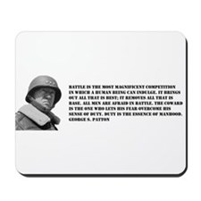 Patton Quote - Battle Mousepad