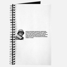 Patton Quote - Battle Journal
