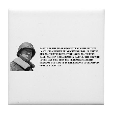 Patton Quote - Battle Tile Coaster