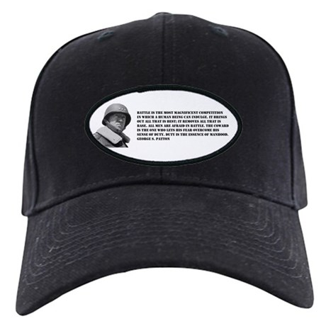 Patton Quote - Battle Black Cap
