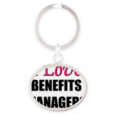 BENEFITS-MANAGERS46 Oval Keychain