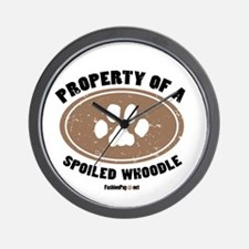 Whoodle dog Wall Clock
