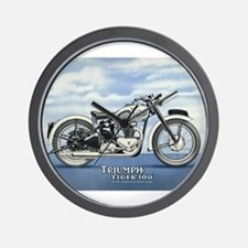 1948 Triumph Tiger 100 Wall Clock