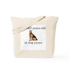 80 birthday dog years german shepherd Tote Bag