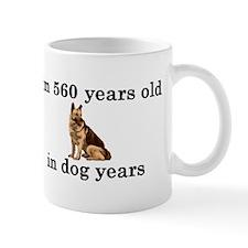 80 birthday dog years german shepherd 2 Mug