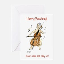 Happy Birthday Greeting Card - keep calm!