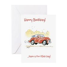 Happy Birthday greeting card - fun filled day
